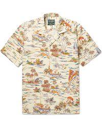 Gitman Brothers Vintage - Camp-collar Printed Cotton-poplin Shirt - Lyst