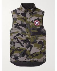 Canada Goose Garson Slim-fit Camouflage Quilted Shell Down Gilet - Grey