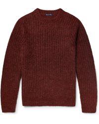 Alex Mill Ribbed Wool-blend Jumper - Red