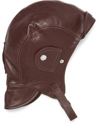 CONNOLLY Goodwood Leather Driving Helmet - Brown