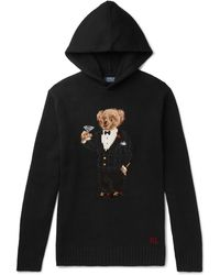 Polo Ralph Lauren - Black Hooded Sweater - Lyst
