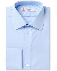 Turnbull & Asser - Blue Double-cuff Cotton Shirt - Lyst