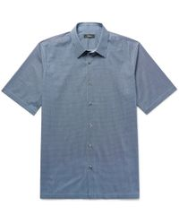 Theory - Menlo Slim-fit Printed Stretch-cotton Shirt - Lyst
