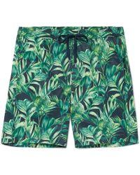 Onia - - Charles Mid-length Printed Swim Shorts - Navy - Lyst