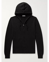 The Row Harry Cashmere Zip-up Hoodie - Black