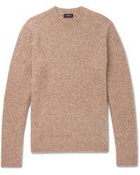 Theory - Highland Gaston Slim-fit Mélange Alpaca-blend Sweater - Lyst