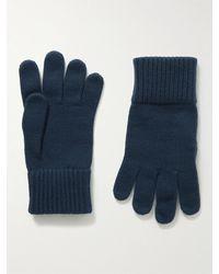 Loro Piana Baby Cashmere Gloves - Blue