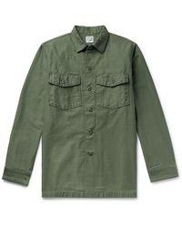 Orslow Cotton Overshirt - Green