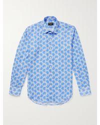 Emma Willis Printed Linen Shirt - Blue
