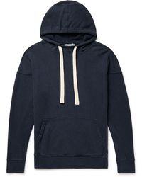 Jungmaven Maui Garment-dyed Hemp And Organic Cotton-blend Jersey Hoodie - Blue