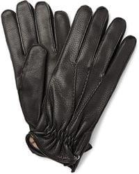 Want Les Essentiels De La Vie Chopin Cashmere-lined Leather Gloves - Black