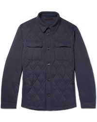 Ermenegildo Zegna - Slim-fit Quilted Shell Down Jacket - Lyst