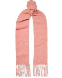 Acne Studios Canada Skinny Fringed Wool Scarf - Pink
