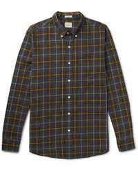 J.Crew | Vernon Button-down Collar Checked Cotton Shirt | Lyst