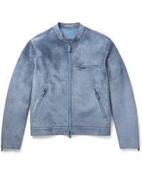 Berluti Suede Jacket - Blue