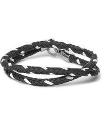 Tod's - - Woven Leather Wrap Bracelet - Blue - Lyst