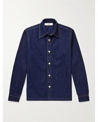 Séfr Palak Denim Overshirt - Blue