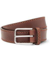 Brunello Cucinelli   - 3cm Brown Leather Belt - Tan   Lyst