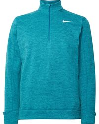 Nike Mélange Therma Repel Half-zip Golf Top - Blue