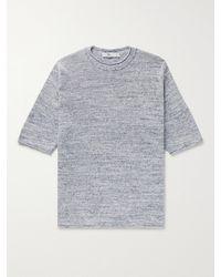Inis Meáin Mélange Linen T-shirt - Blue
