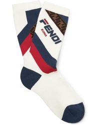 Fendi - Logo Terry Socks - Lyst
