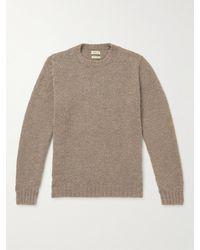 De Bonne Facture Slim-fit Wool Bouclé Jumper - Brown