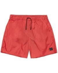 Acne Studios Perry Mid-length Swim Shorts - Red