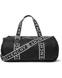 Givenchy Logo-jacquard Webbing And Shell Holdall - Black