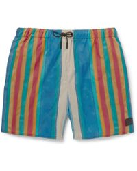 Acne Studios Perry Mid-length Striped Swim Shorts - Blue