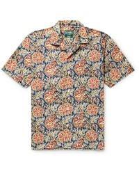 Gitman Brothers Vintage Camp-collar Printed Cotton Shirt - Multicolor