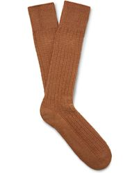 Mr Gray - Textured-knit Socks - Lyst