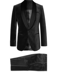BOSS by Hugo Boss Black Henry Glow Slim-fit Satin-trimmed Cotton-corduroy Tuxedo