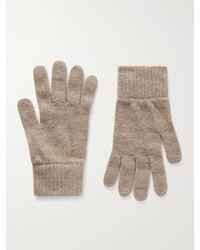 William Lockie Cashmere Gloves - Natural
