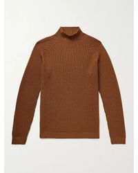 Thom Sweeney - Ribbed Merino Wool Mock-neck Sweater - Lyst
