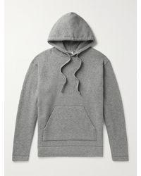 Officine Generale Mélange Wool-blend Hoodie - Grey
