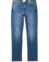 FRAME L'homme Skinny-fit Denim Jeans - Blue