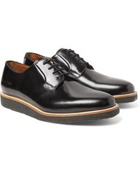 Common Projects Polished-leather Derby Shoes - Black