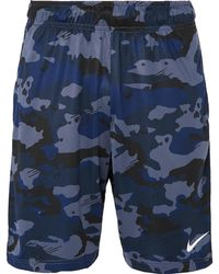 0443a05748 Nike Camouflage Swim Shorts in Black for Men - Lyst