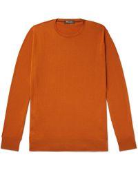 Loro Piana Virgin Wool Sweater - Orange