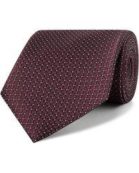 Ermenegildo Zegna 7.5cm Silk-jacquard Tie - Purple