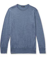 Thom Sweeney - Slim-fit Merino Wool Sweater - Lyst