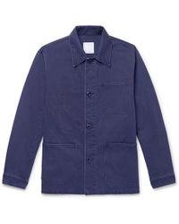 Sandro - Cotton-canvas Jacket - Lyst