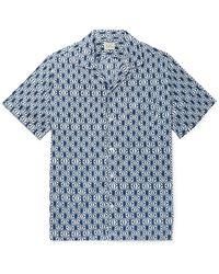 J.Crew Camp-collar Printed Cotton Shirt - Blue