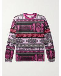 Aries Cotton-jacquard T-shirt - Purple