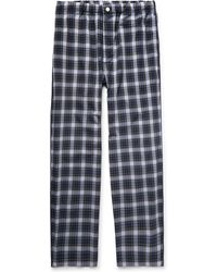 Sleepy Jones - Lowell Checked Cotton-poplin Pyjama Trousers - Lyst