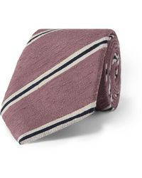 Richard James 7cm Silk-shantung Tie - Pink