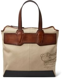 Berluti - Air Small Canvas And Leather Tote Bag - Lyst