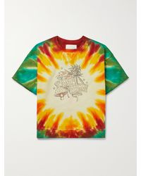 CAMP HIGH Wonders Of Nature Tie-dyed Loopback Cotton-jersey Sweatshirt - Green