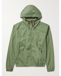 Polo Ralph Lauren Colt Logo-embroidered Cotton Hooded Jacket - Green
