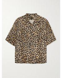 Kapital Oversized Camp-collar Leopard-print Voile Shirt - Brown